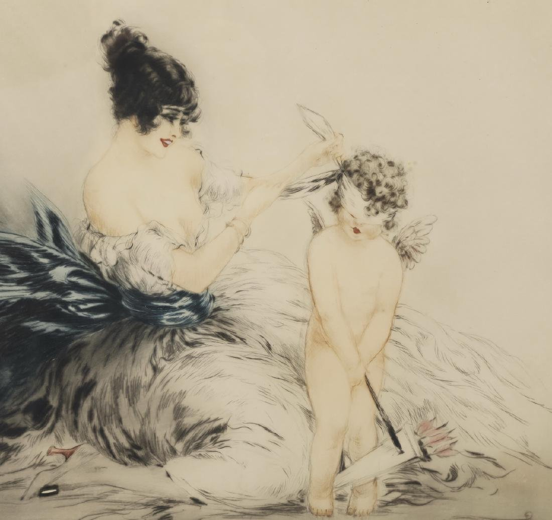 Louis Icart signed & numbered etching 'Le bandeau' - 2