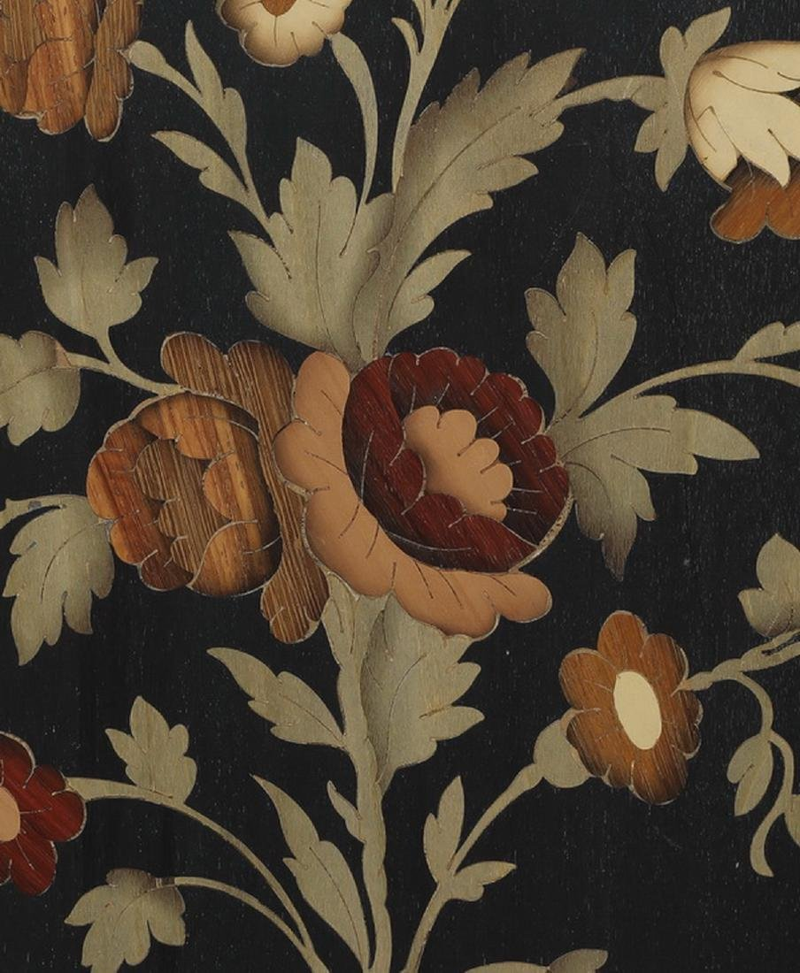 Italian polychrome marquetry inlaid floral panel - 3