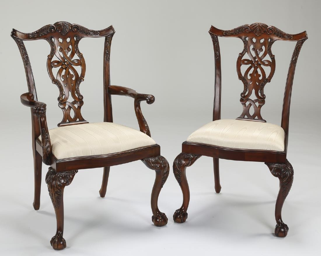 (8) Maitland Smith carved mahogany chairs - 2