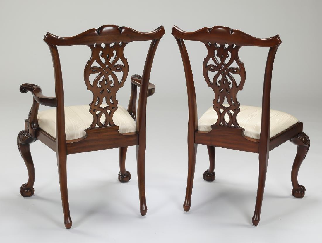 (8) Maitland Smith carved mahogany chairs - 3