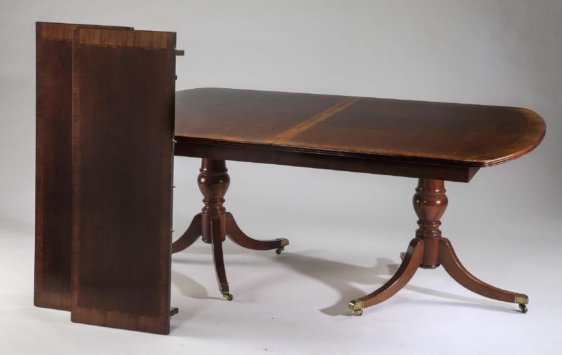 English mahogany dining table, 19th c.