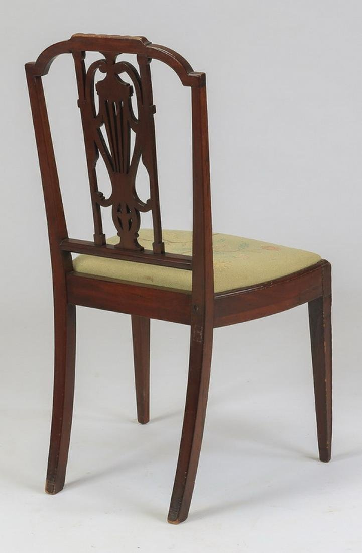 Sheraton style chair w/ needlepoint seat, 19th c. - 2
