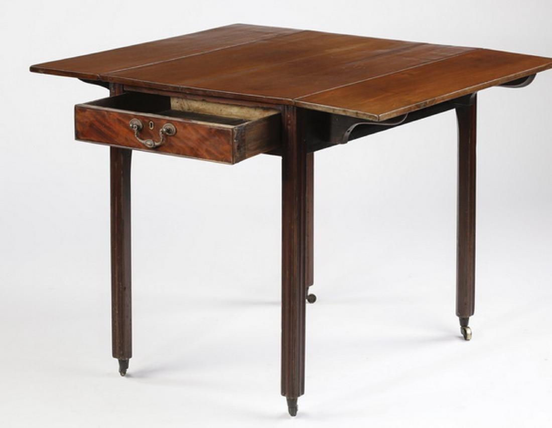 Contemporary mahogany Pembroke table - 2