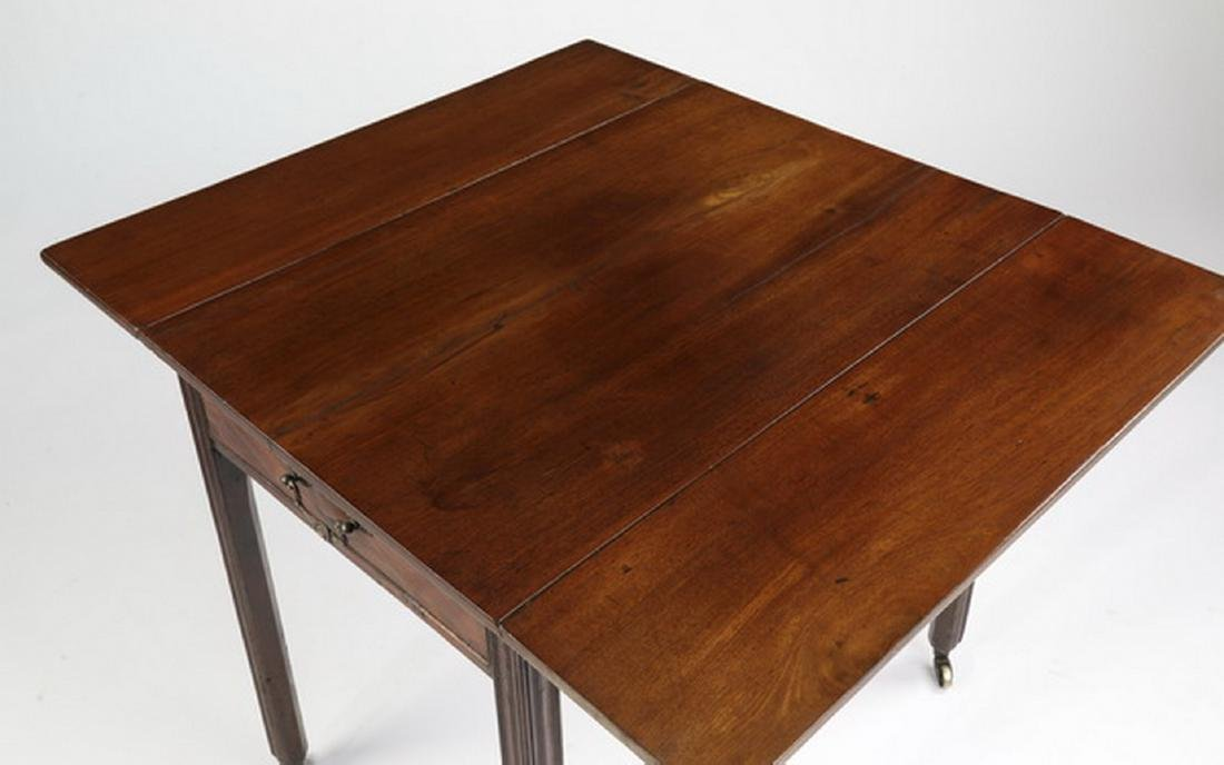 Contemporary mahogany Pembroke table - 3