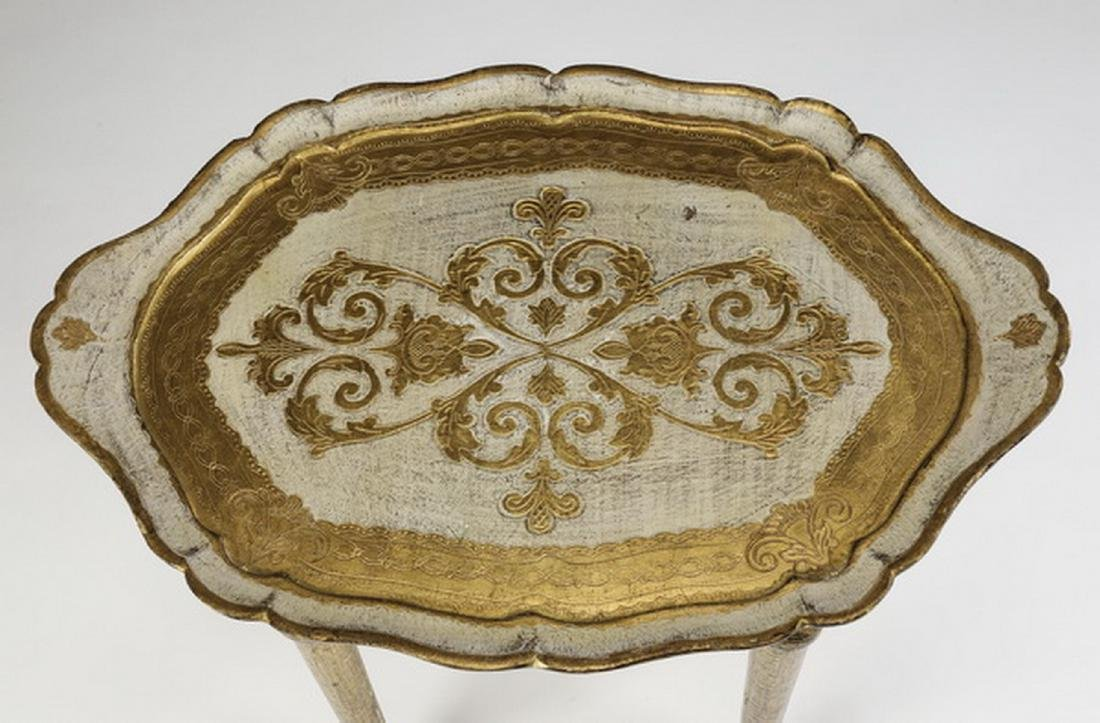 French style gilded petite occasional table - 2