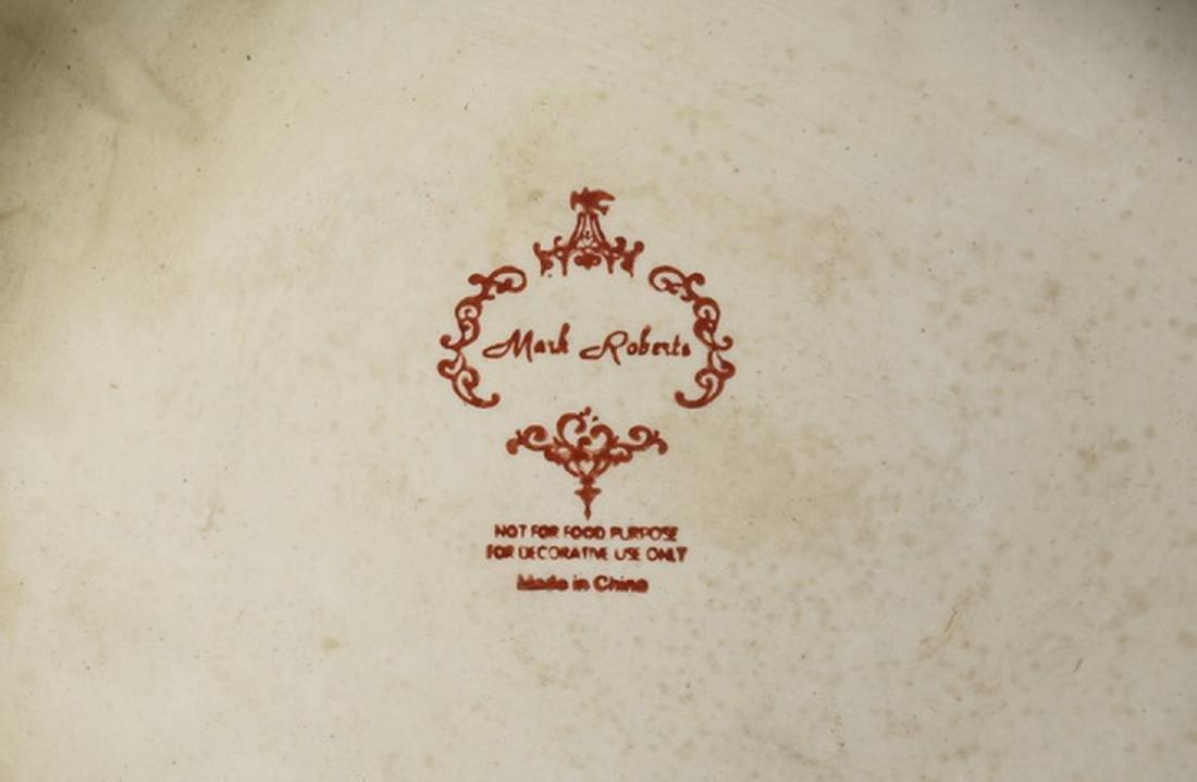 3 pc gilt mounted porcelain vase garniture set - 3