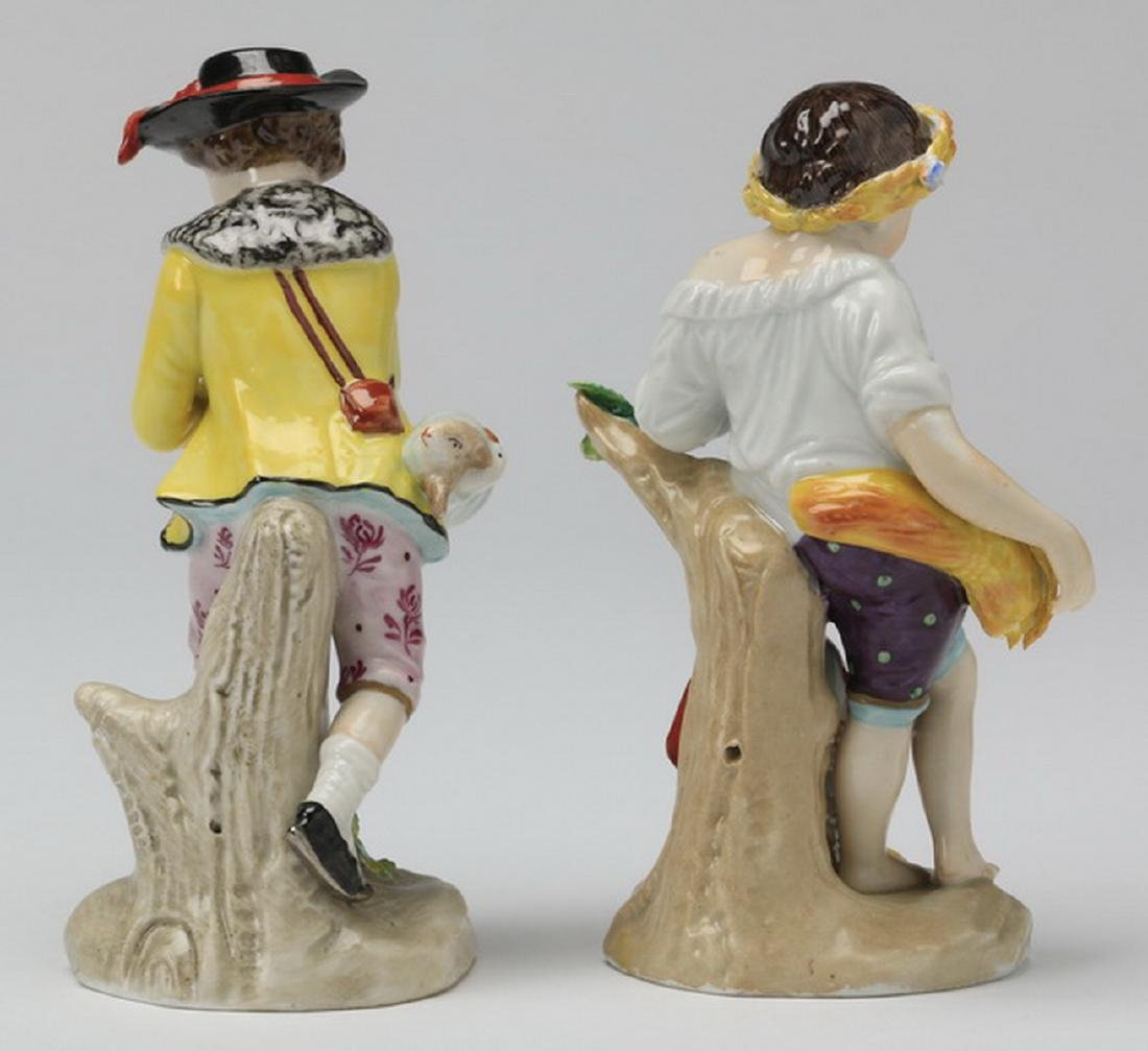 (2) 19th c. Sitzendorf porcelain figurines - 4