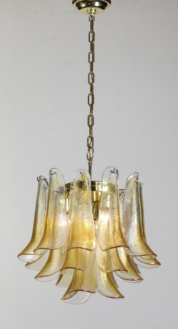 "Murano glass 'Petal' chandelier by Mazzega, 16""h"