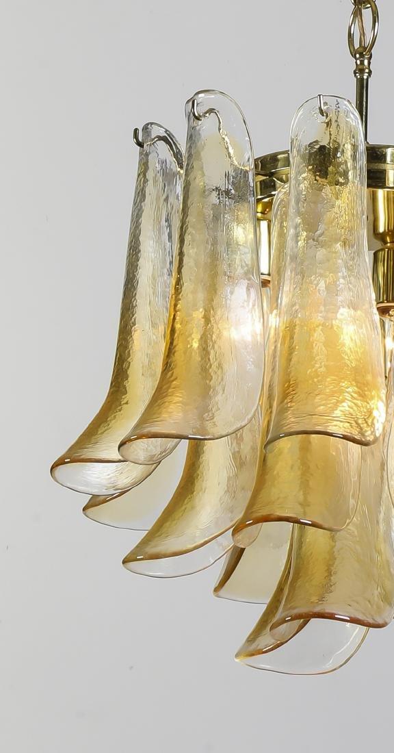 "Murano glass 'Petal' chandelier by Mazzega, 16""h - 2"
