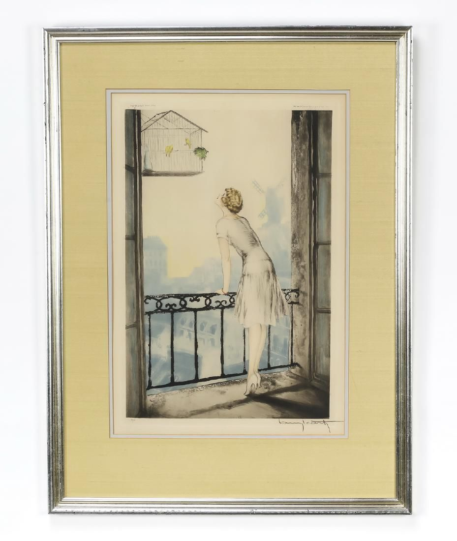 Louis Icart signed & numbered etching 'Montmartre'