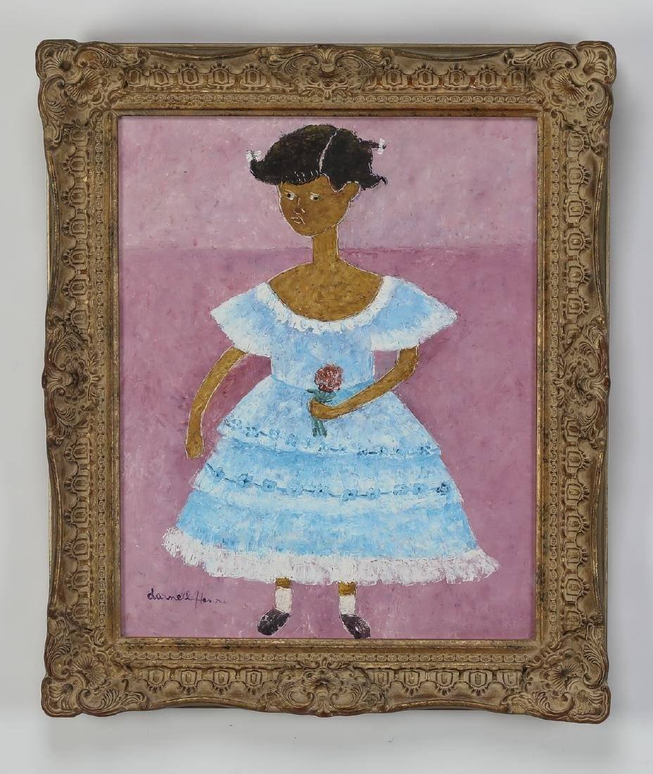 Danielle Henri (Haitian), signed acrylic on masonite