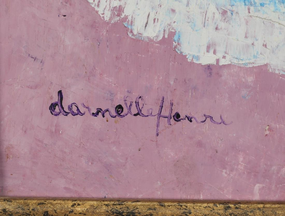 Danielle Henri (Haitian), signed acrylic on masonite - 3