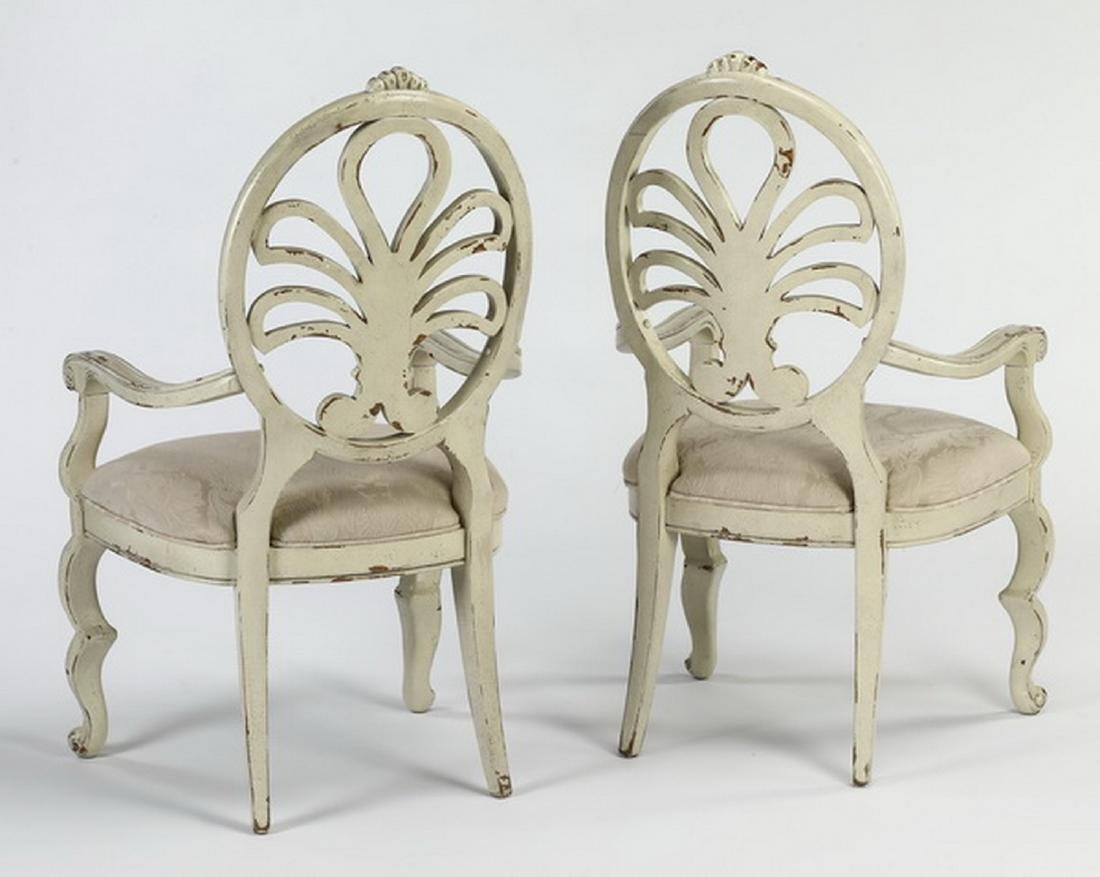 (2) French Provincial style paint-decorated armchairs - 2