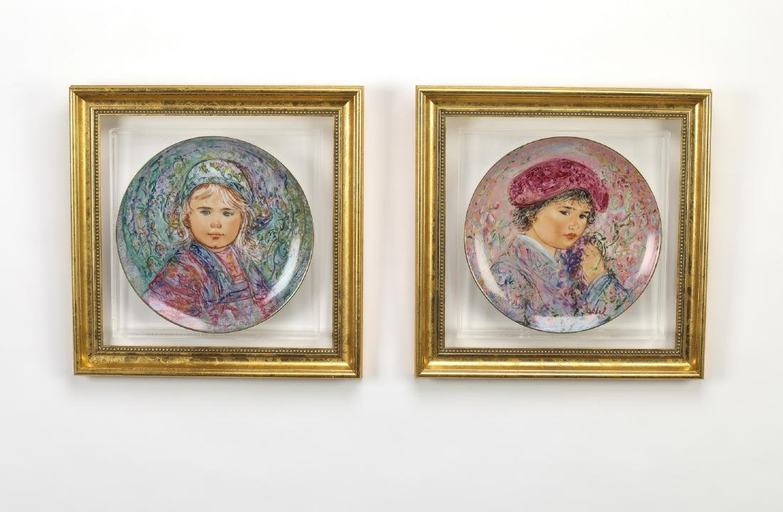 (4) 'Nobility of Children' hand painted plates - 2