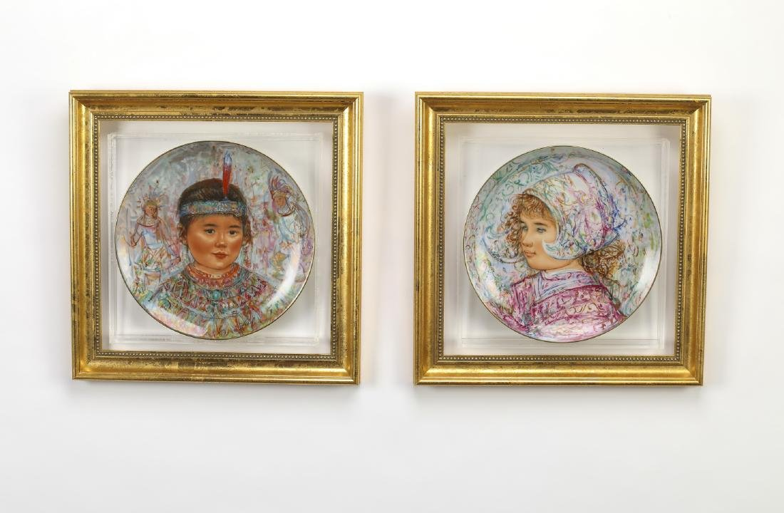 (4) 'Nobility of Children' hand painted plates - 3