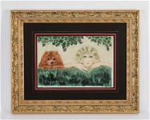 Louis Icart hand colored etching, signed