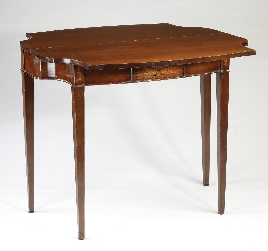Neo-classical style mahogany games table - 2