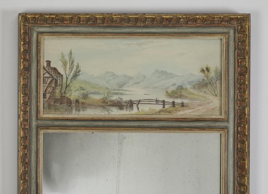 """Watercolor landscape trumeau mirror, 45""""h - 2"""