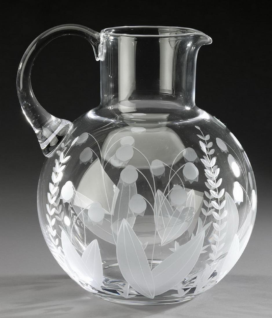 Tiffany & Co crystal 'Lily of the Valley' pitcher - 2