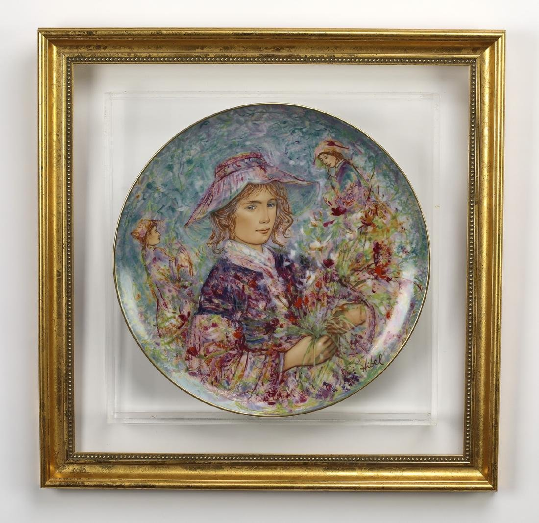 'Flower Girl of Provence' hand painted plate by Hibel