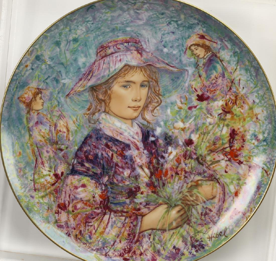 'Flower Girl of Provence' hand painted plate by Hibel - 2