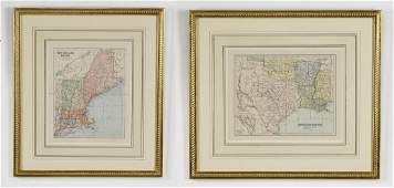 2 Early 20th c maps New England  Southern States