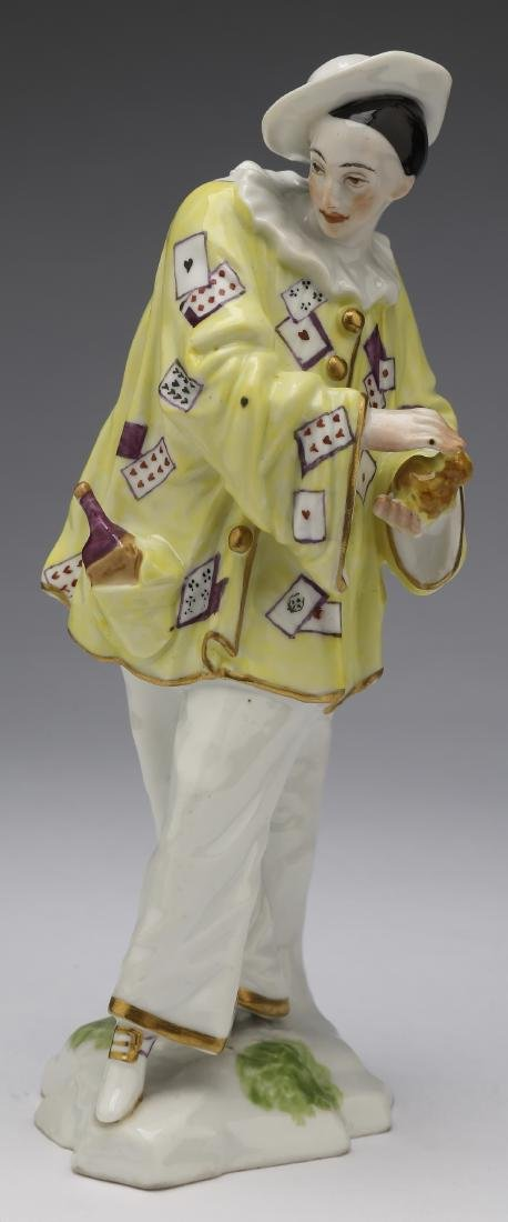 Early 20th c  French porcelain figure of a jester