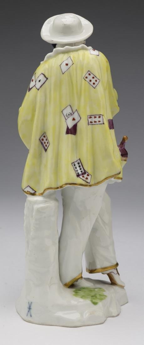 Early 20th c  French porcelain figure of a jester - 2