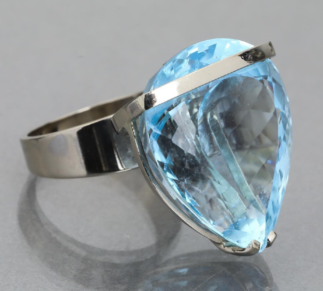 91.15 carat blue topaz and 14k statement ring - 2
