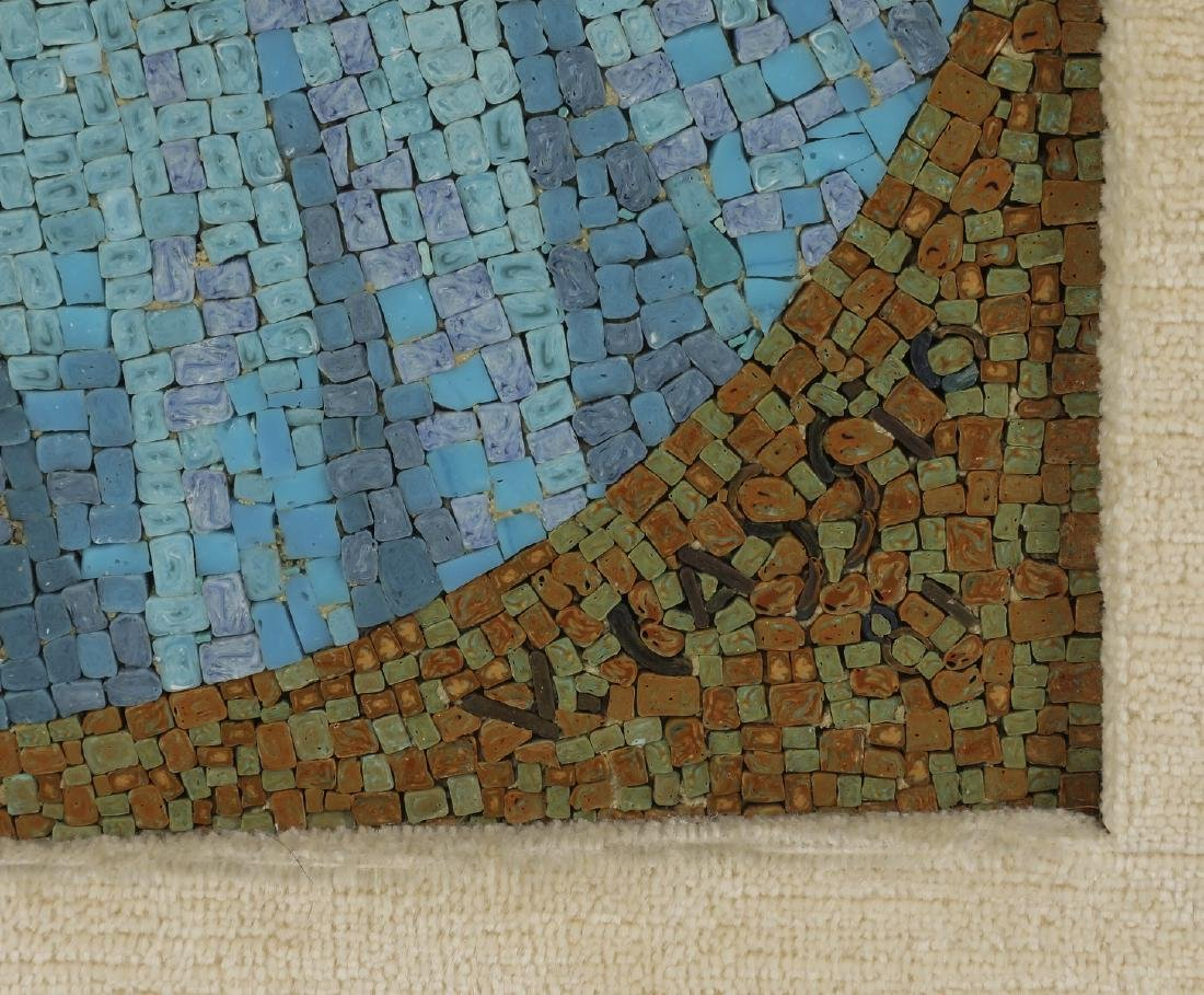 Vatican Studio micro-mosaic, Madonna & Child, signed - 3