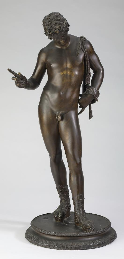 19th c. Grand Tour bronze of Dionysus, marked
