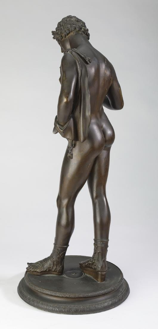 19th c. Grand Tour bronze of Dionysus, marked - 3