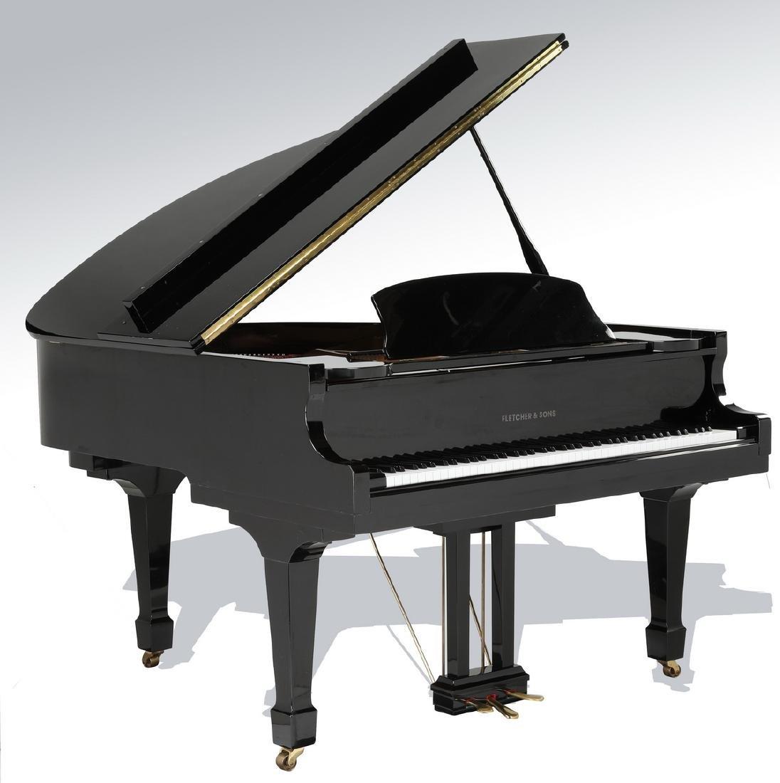 Fletcher & Sons baby grand piano w/ ebony finish