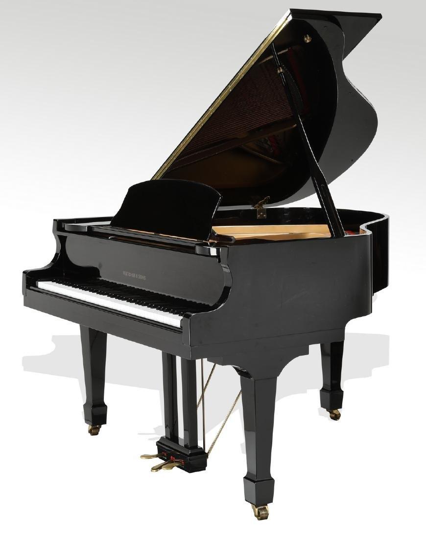 Fletcher & Sons baby grand piano w/ ebony finish - 2