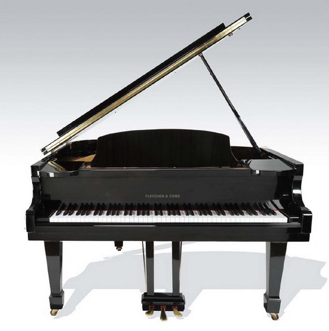 Fletcher & Sons baby grand piano w/ ebony finish - 3