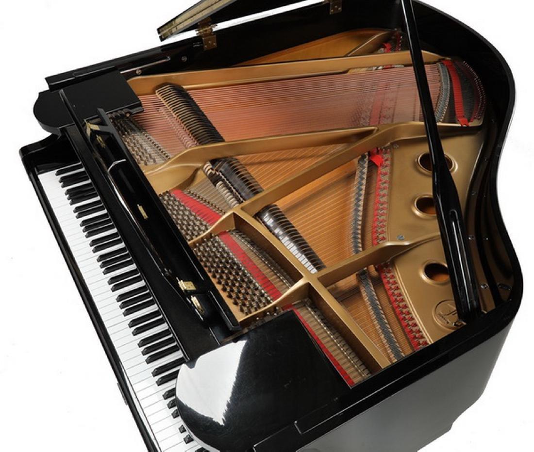 Fletcher & Sons baby grand piano w/ ebony finish - 4