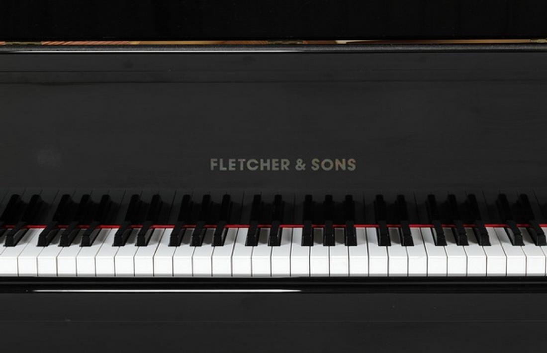 Fletcher & Sons baby grand piano w/ ebony finish - 8