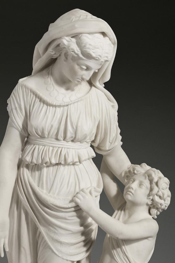 "JW Swinnerton signed marble sculpture, 50""h - 2"