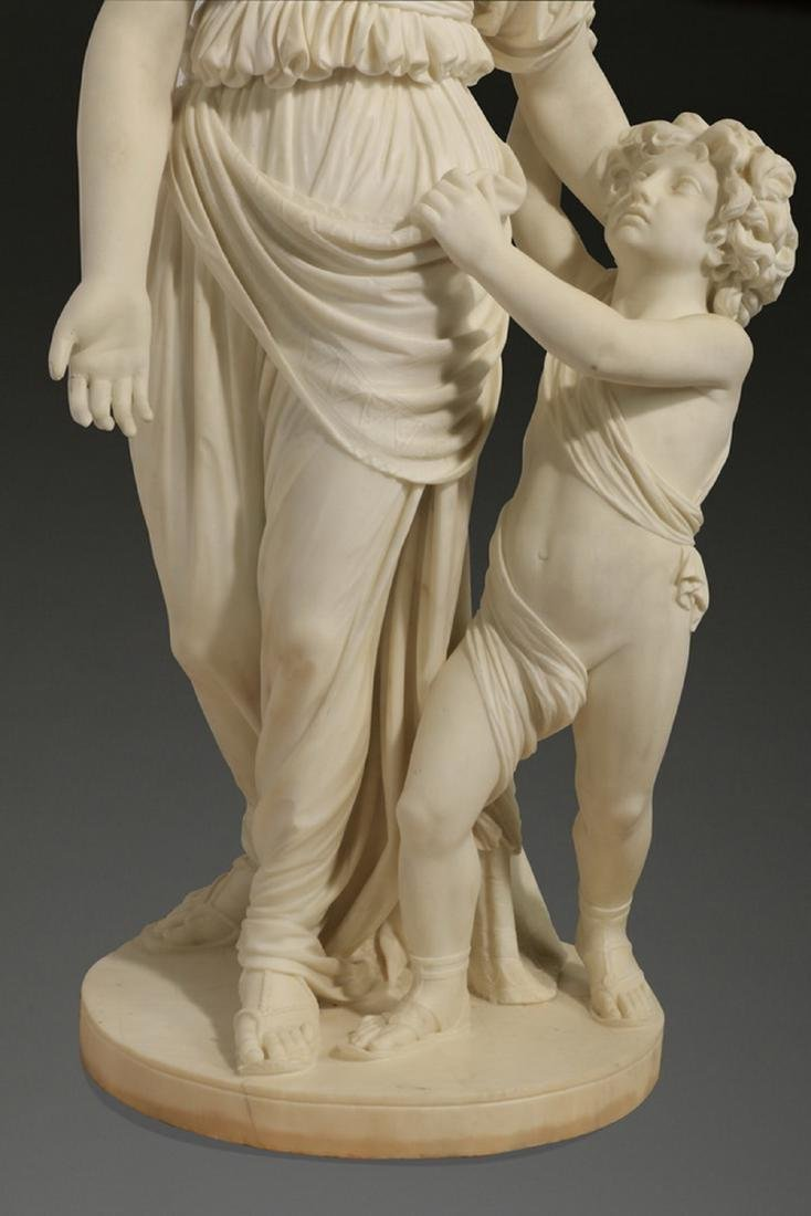 "JW Swinnerton signed marble sculpture, 50""h - 3"