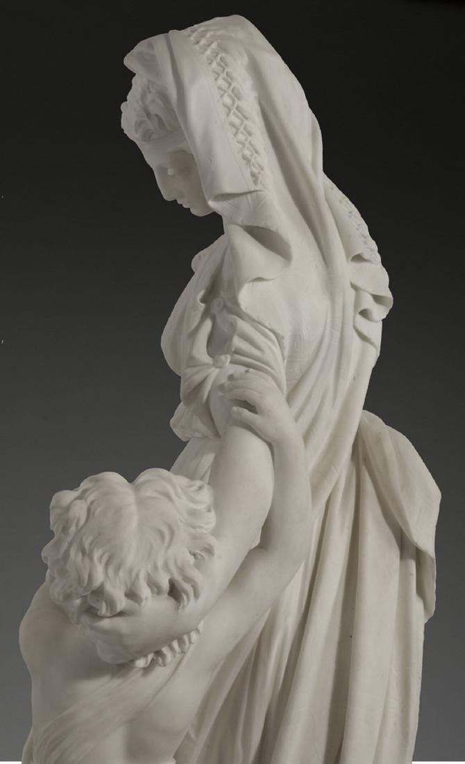 "JW Swinnerton signed marble sculpture, 50""h - 6"