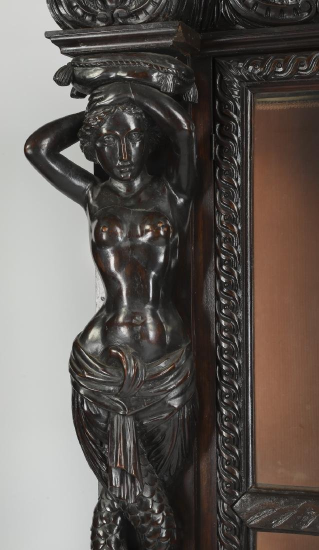 19th c. Italian carved and ebonized figural cabinet - 4