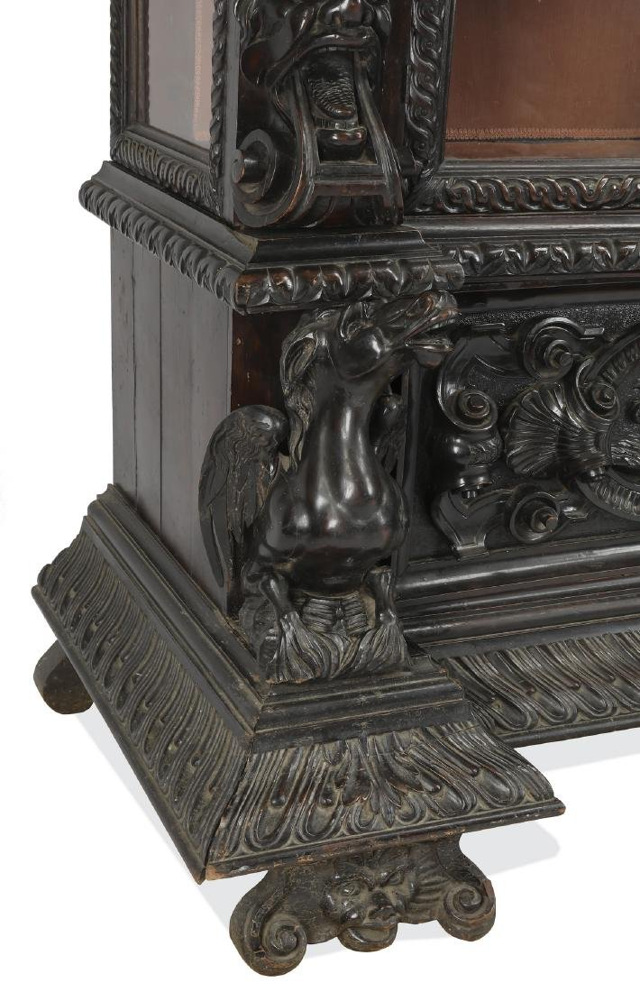 19th c. Italian carved and ebonized figural cabinet - 6