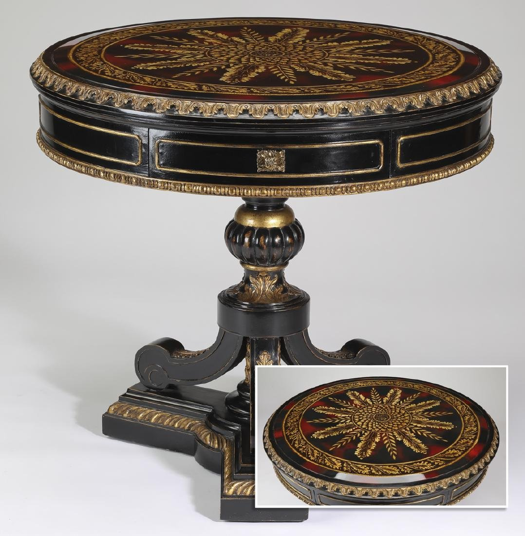 Maitland-Smith Empire style ebonized side table