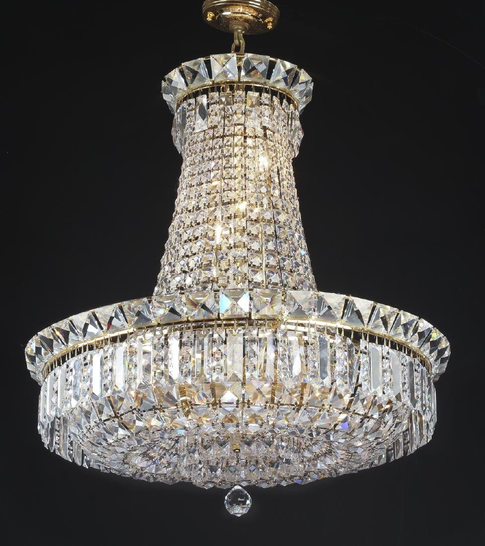 """Empire style crystal 12-light chandelier, 36""""h"""