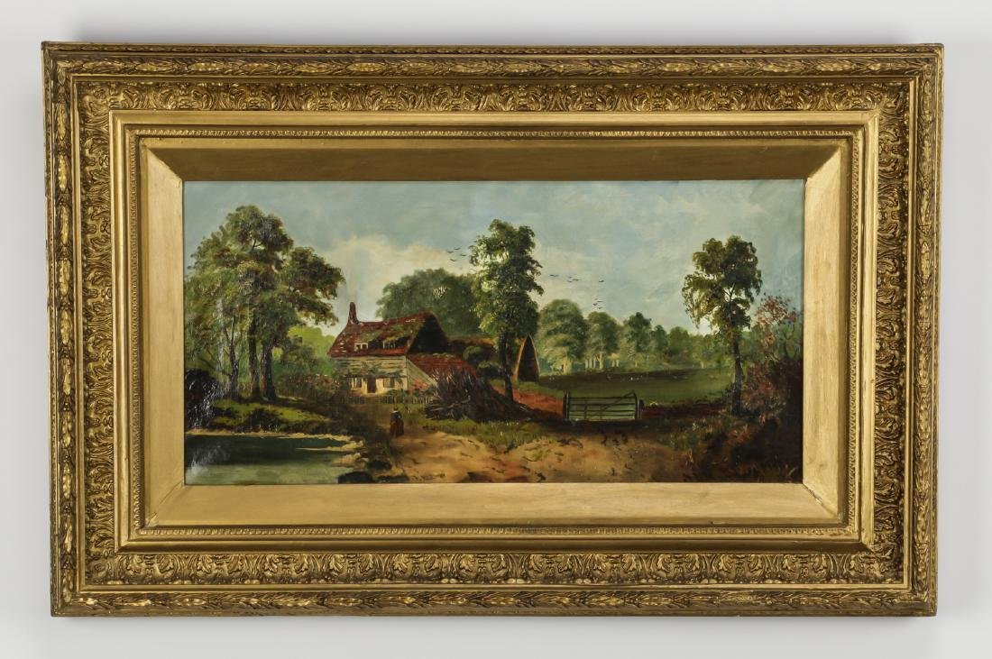 19th c. British pastoral O/c, Frederick Hulme, signed