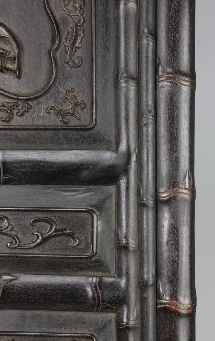 "Chinese carved 'bogu' cabinet, 78.5""h - 10"