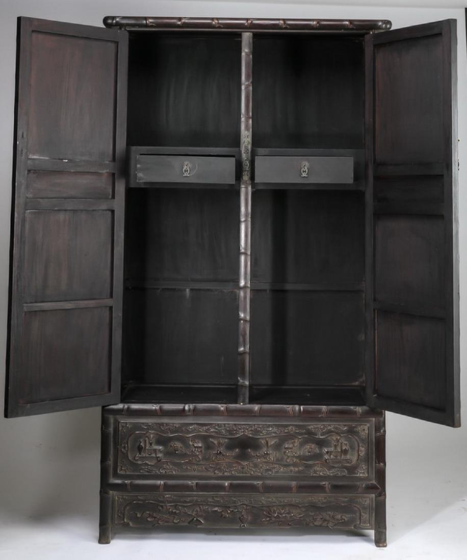 "Chinese carved 'bogu' cabinet, 78.5""h - 2"