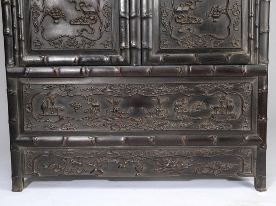 "Chinese carved 'bogu' cabinet, 78.5""h - 6"