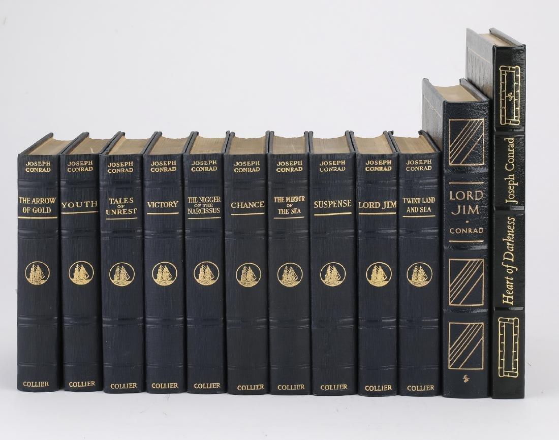 (12) Leatherbound books by Joseph Conrad