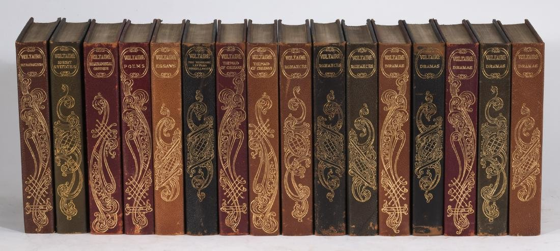 (16) Edition Louis XIV volumes 'Works of Voltaire'